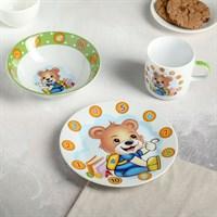 Набор детской посуды «Медвежонок счетовод», 3 предмета